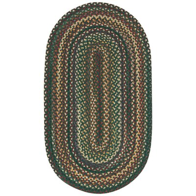 Rainmaker Dark Geen Area Rug Rug Size: Concentric 23 x 4