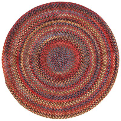 Sahale Red Variegated Area Rug Rug Size: Round 13