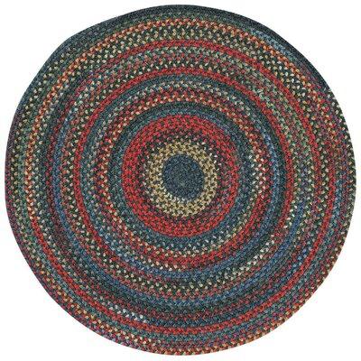 Sahale Blue Variegated Area Rug Rug Size: Round 1'3