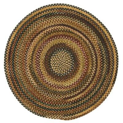 Kaweah Burgundy Variegated Area Rug Rug Size: Round 1'3