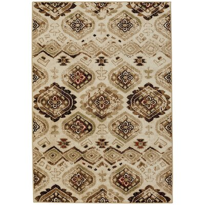 Dotsero Biscuit/Green Indoor/Outdoor Area Rug Rug Size: 52 x 76