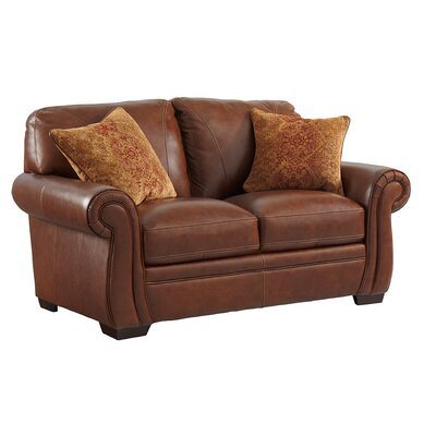 Devonne Leather Loveseat