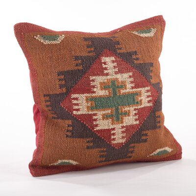 Beaded Wool Throw Pillow