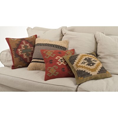 Beaded Designs Natural/Organic Wool Throw Pillow