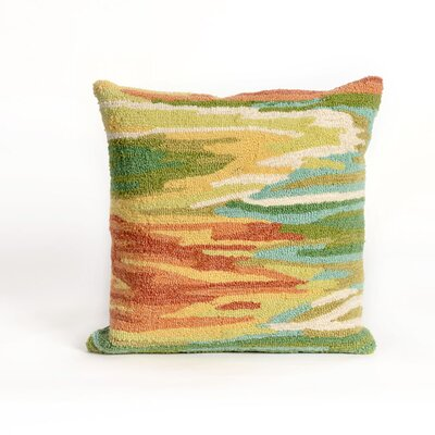 Folsom Watercolor Throw Pillow Color: Green