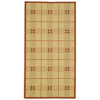 Trishelle Natural/Terra Outdoor Rug Rug Size: Rectangle 67 x 96