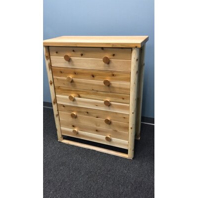 Lonato 5 Drawer Dresser Color: Clear Coat