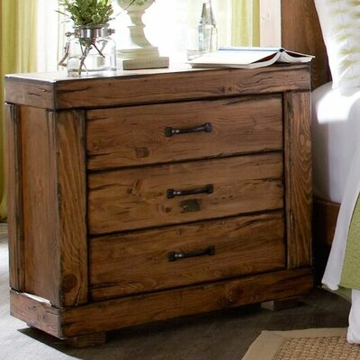 Hilton 3 Drawer Nightstand