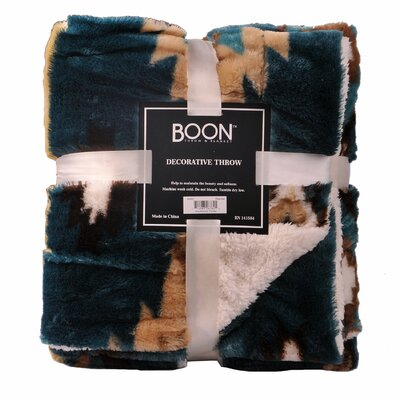 Palisade Blanket Color: Deep Teal, Size: 60 L x 50W