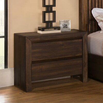 Worden 2 Drawer Nightstand