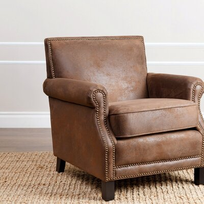 Nucla Antique Club Chair Upholstery: Brown