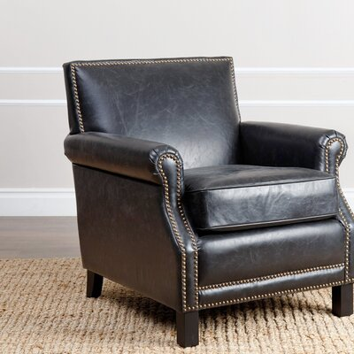 Nucla Antique Club Chair Upholstery: Black