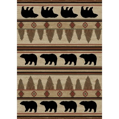 Durango Beige/Black Area Rug Rug Size: Rectangle 5 x 8