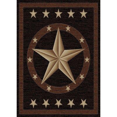 Durango Western Star Brown Area Rug Rug Size: 8 x 10