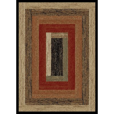Durango Rustic Panel Beige Area Rug Rug Size: Reactangle 4 x 6