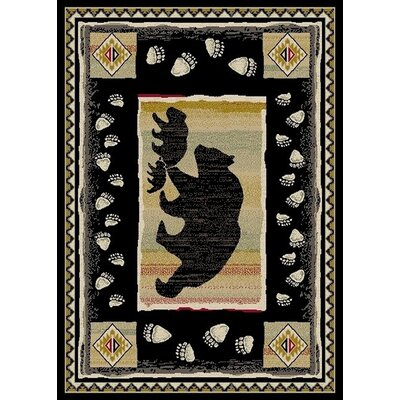 Durango Take the Land Black Area Rug Rug Size: 8 x 10