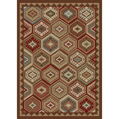 Durango Brown/Red Area Rug Rug Size: 5 x 8