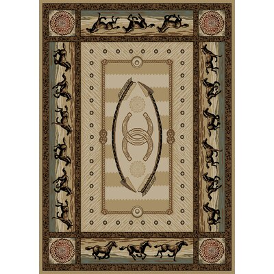 Windsor Lane Beige Area Rug Rug Size: 5 x 8