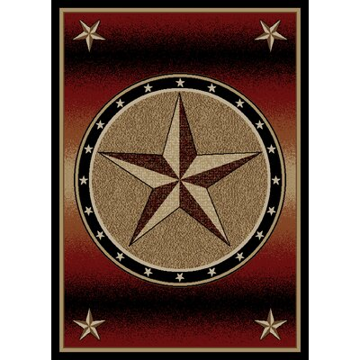 Windsor Lane Red Area Rug Rug Size: 5 x 8