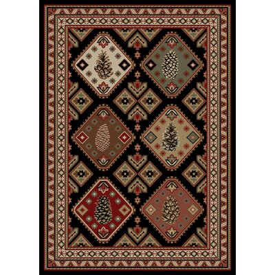 Windsor Lane Pine Ridge Red/Black Area Rug Rug Size: 5 x 8