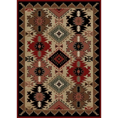 Windsor Lane Brown/Red Area Rug Rug Size: 8 x 10