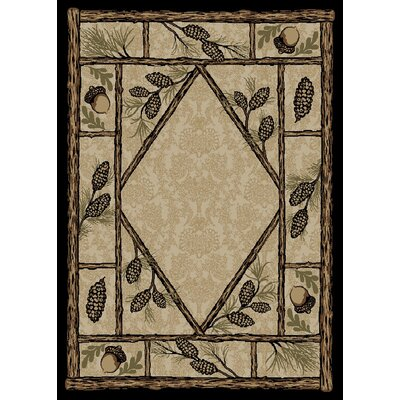 Windsor Lane Beige/Brown Area Rug Rug Size: 4 x 6