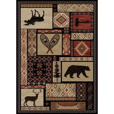 Chateaux Patchwork Brown Area Rug Rug Size: 5 x 8