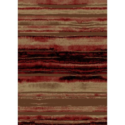 Chateaux Red/Brown Area Rug Rug Size: 5 x 8
