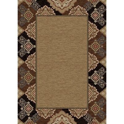 Chateaux Tapestry Brown Area Rug Rug Size: 5 x 8