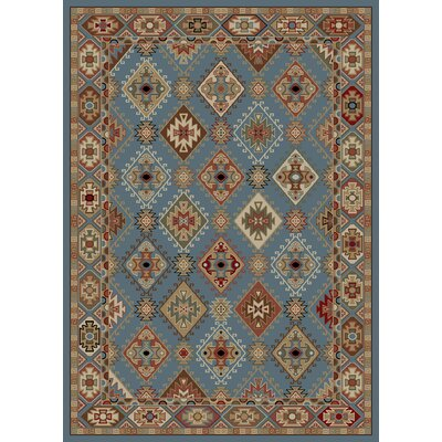 Chateaux Blue/Brown Area Rug Rug Size: 5 x 8