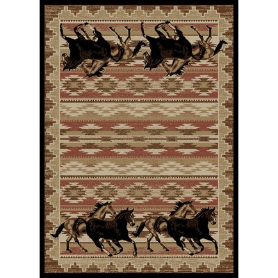 Chateaux Untamed Brown Area Rug Rug Size: 5 x 8