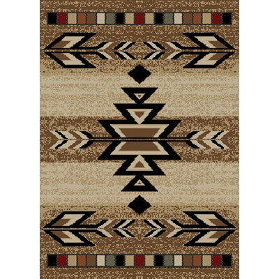Durango Brown Area Rug Rug Size: 5 x 8