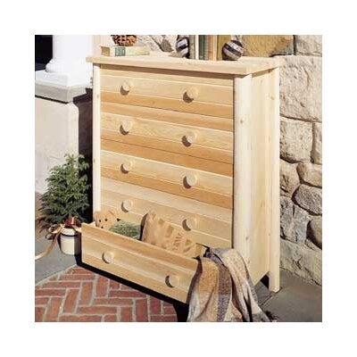 Lonato 5 Drawer Dresser Finish: Natural