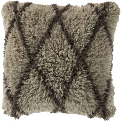Adella Diamond Wool Throw Pillow Filler: Down
