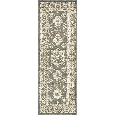 Giovanni Gray Area Rug Rug Size: Runner 2 x 6