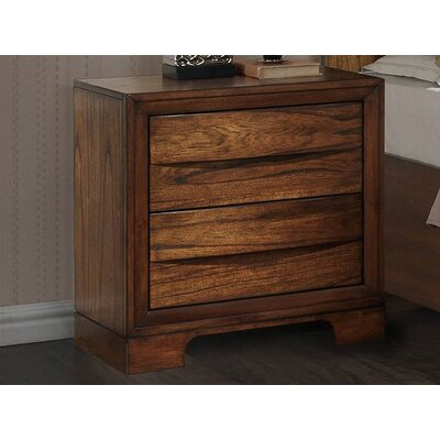Russet 2 Drawers Storage Nightstand