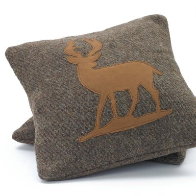 Lyka Deer Wool Throw Pillow