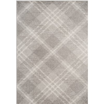 St. Ann Highlands Light Gray/Ivory Area Rug Rug Size: Round 6