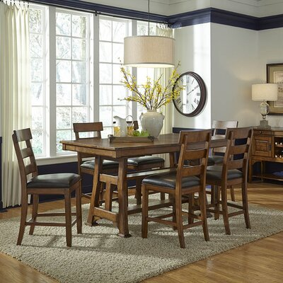 Billings 7 Piece Counter Height Extendable Dining Set