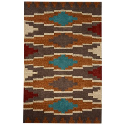 Cadoz Hand-Tufted Brown/Gray Area Rug Rug Size: 2 x 3