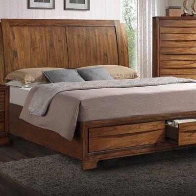 Russet King Storage Sleigh Bed