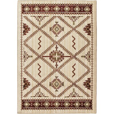 Convene Beige/Red Area Rug