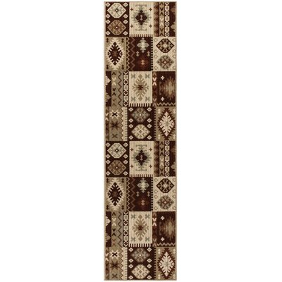 Convene Brown/Beige Area Rug Rug Size: Runner 111 x 75