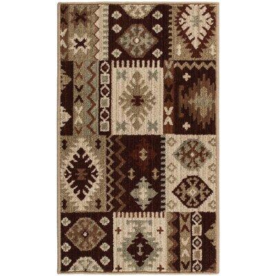 Convene Brown/Beige Area Rug Rug Size: 111 x 33