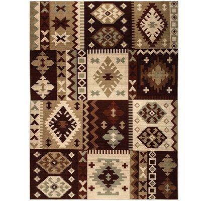 Convene Brown/Beige Area Rug Rug Size: 710 x 1010