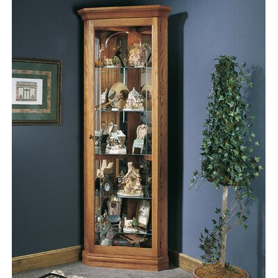 North Palisade Corner Curio Cabinet Finish: Oak