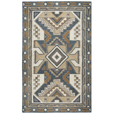Samoa Hand-Tufted Gray/Brown Area Rug Rug Size: Rectangle 5 x 8