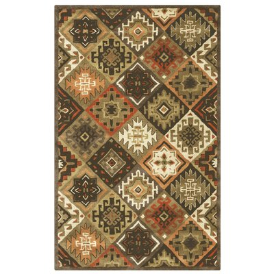 Delavan Hand-Tufted Brown Area Rug Rug Size: Round 8