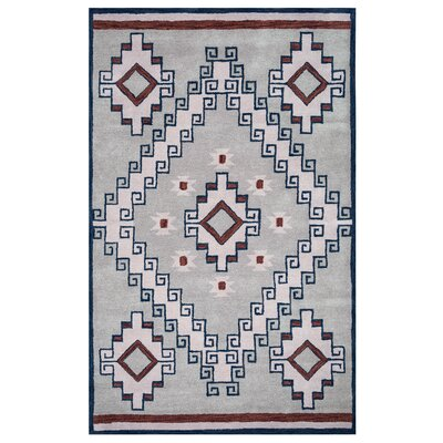 Samoa Hand-Tufted Gray/Blue Area Rug Rug Size: 2 x 3