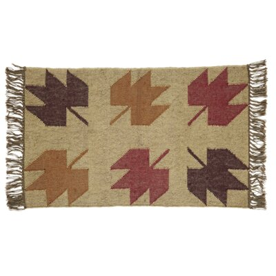 Pryor Creek Hand Woven Red/Tan Area Rug Rug Size: 2 x 3